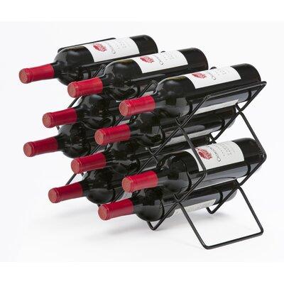 Roe 10 Bottle Tabletop Wine Rack Finish: Black