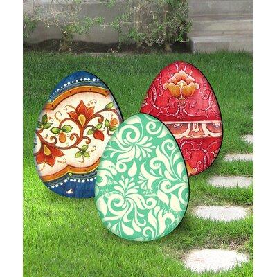 3 Piece Easter Eggs Free Standing/Hanging Garden Dcor Set