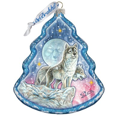 Howling at the Moon Wolfs Shaped Ornament