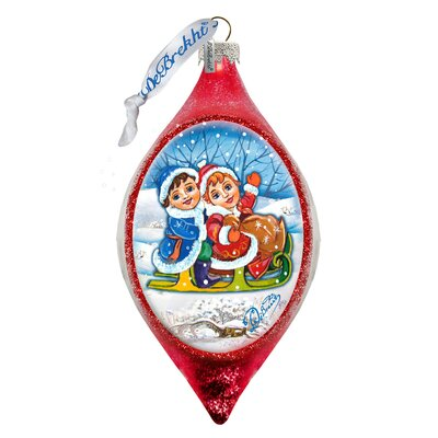 Kids Sleight Ride Finial Ornament