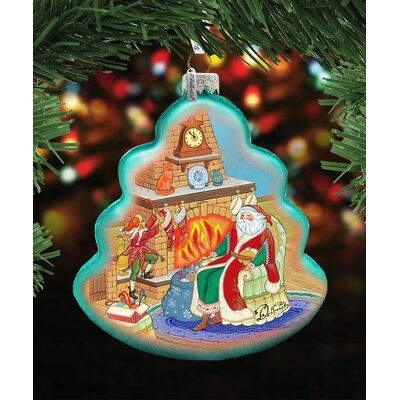 At the Fireplace Shaped Ornament