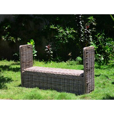 Orava Wicker Storage Bench Color: Kubu Gray