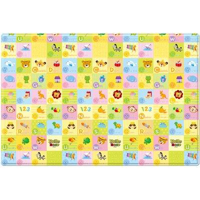 "Hello Bear Smiletown Baby Soft Floor Mat Size: 0.47"" H x 72.8"" W x 49.6"" D"