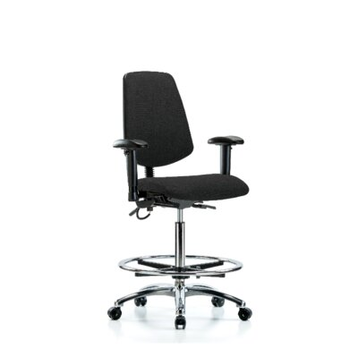 Ergonomic Office Chair Color (Upholstery): Black, Casters/Glides: Casters, Tilt Function: Included