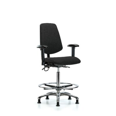 Ergonomic Office Chair Color (Upholstery): Black, Casters/Glides: Glides, Tilt Function: Included