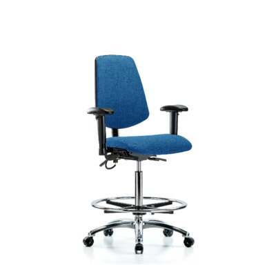 Ergonomic Office Chair Color (Upholstery): Blue, Casters/Glides: Casters, Tilt Function: Included