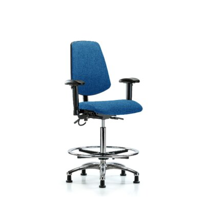 Ergonomic Office Chair Color (Upholstery): Blue, Casters/Glides: Glides, Tilt Function: Included