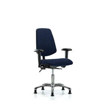 Hannah Desk Height Ergonomic Office Chair Color (Upholstery): Blue, Casters/Glides: Glides, Tilt Function: Included