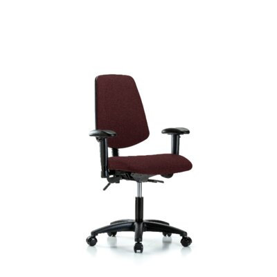 Desirae Desk Height Office Chair Color (Upholstery): Burgundy, Casters/Glides: Casters, Tilt Function: Not Included