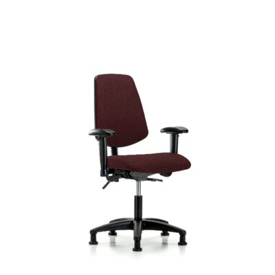 Desirae Desk Height Office Chair Color (Upholstery): Burgundy, Casters/Glides: Glides, Tilt Function: Not Included