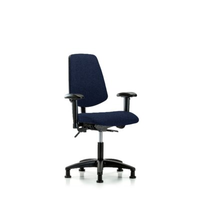 Desirae Desk Height Office Chair Casters/Glides: Glides, Color (Upholstery): Navy, Tilt Function: Not Included