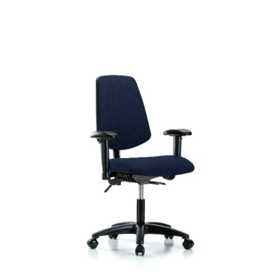 Desirae Desk Height Office Chair Casters/Glides: Casters, Color (Upholstery): Navy, Tilt Function: Not Included