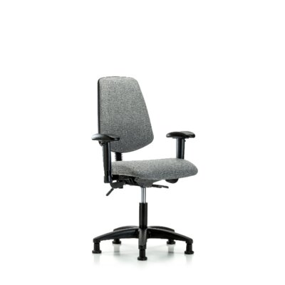 Desirae Desk Height Office Chair Casters/Glides: Glides, Color (Upholstery): Gray, Tilt Function: Not Included