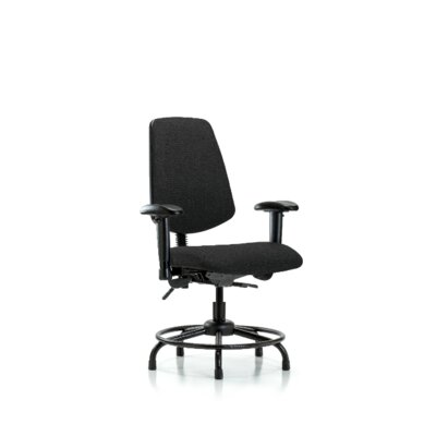 Taliyah Round Tube Base Desk Height Ergonomic Office Chair Color (Upholstery): Black, Tilt Function: Included