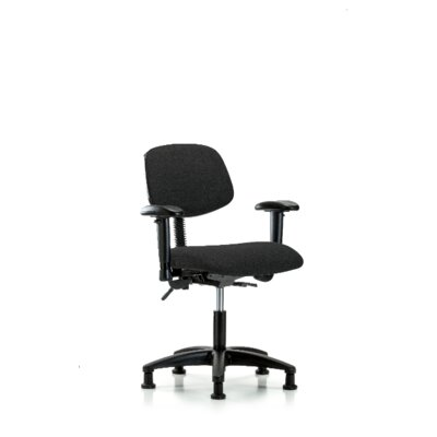 Maegan Desk Height Ergonomic Office Chair Color (Upholstery): Black, Casters/Glides: Glides, Tilt Function: Included