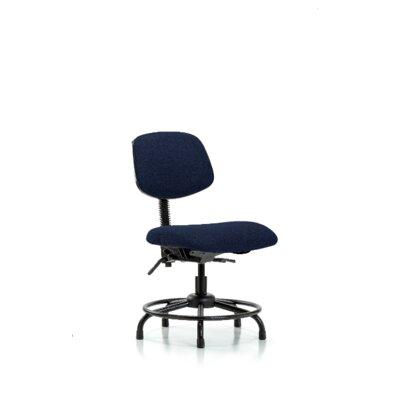 Niamh Round Tube Base Desk Height Ergonomic Office Chair Tilt Function: Included, Color (Upholstery): Navy