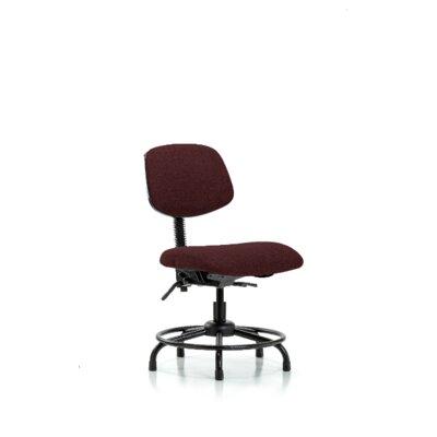 Niamh Round Tube Base Desk Height Ergonomic Office Chair Color (Upholstery): Burgundy, Tilt Function: Not Included