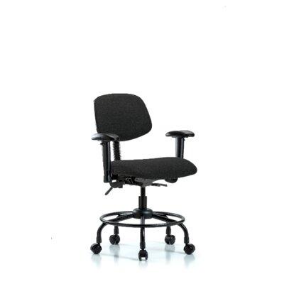 Atticus Round Tube Base Desk Height Ergonomic Office Chair Color (Upholstery): Black, Tilt Function: Not Included