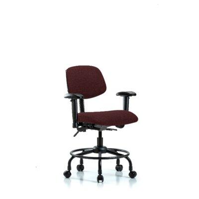 Atticus Round Tube Base Desk Height Ergonomic Office Chair Color (Upholstery): Burgundy, Tilt Function: Included