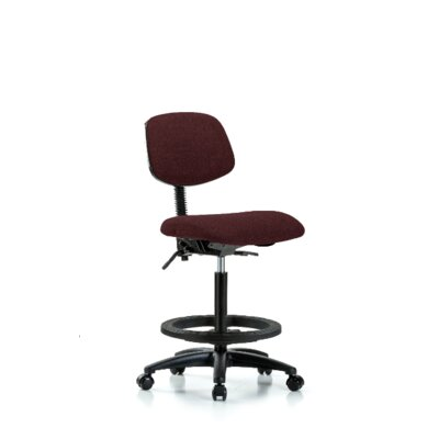 Micaela Office Chair Color (Upholstery): Burgundy, Casters/Glides: Casters, Tilt Function: Included