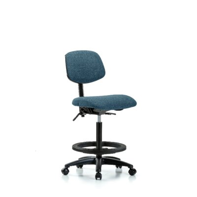 Micaela Office Chair Color (Upholstery): Blue, Casters/Glides: Casters, Tilt Function: Included