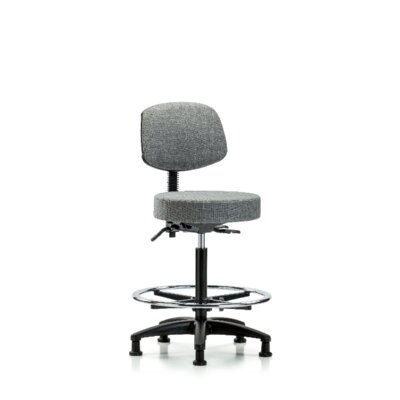 Anita Height Adjustable Lab Stool Foot Type: Glides, Seat Color: Gray