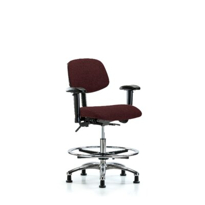Freya Ergonomic Office Chair Color (Upholstery): Burgundy, Casters/Glides: Glides, Tilt Function: Included