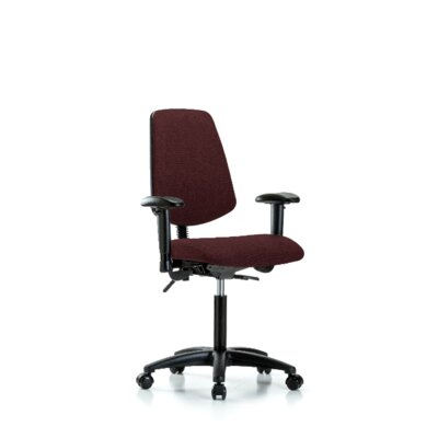 Maisie Ergonomic Office Chair Color (Upholstery): Burgundy, Casters/Glides: Casters, Tilt Function: Included