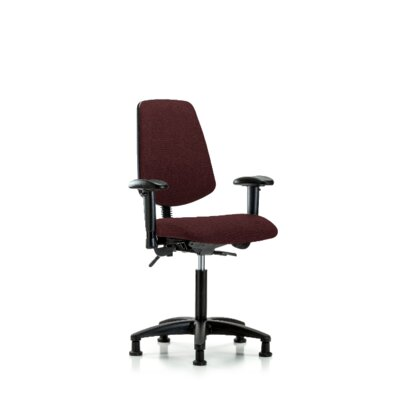 Maisie Ergonomic Office Chair Color (Upholstery): Burgundy, Casters/Glides: Glides, Tilt Function: Included