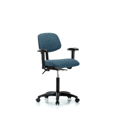 Gemma Ergonomic Office Chair Color (Upholstery): Blue, Casters/Glides: Casters, Tilt Function: Not Included