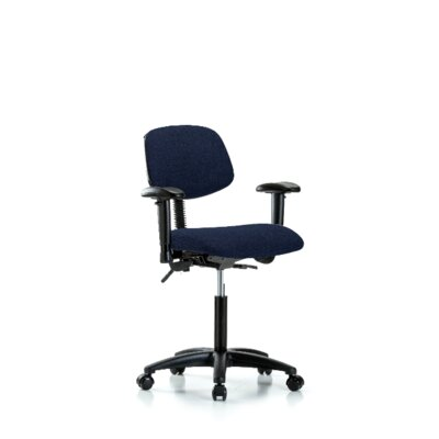 Gemma Ergonomic Office Chair Casters/Glides: Casters, Color (Upholstery): Navy, Tilt Function: Not Included