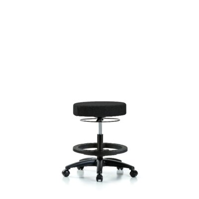 Areli Bench Height Adjustable Lab Stool Seat Color: Black, Foot Type: Casters