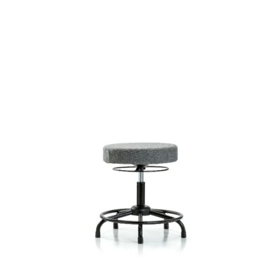 Grace Round Tube Base Height Adjustable Lab Stool Foot Type: Glides, Seat Color: Gray