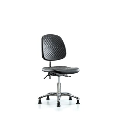 Anjali Desk Height Office Chair Casters/Glides: Glides