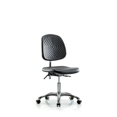 Anjali Desk Height Office Chair Casters/Glides: Casters