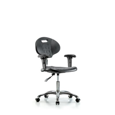 Kelsi Desk Height Office Chair Casters/Glides: Casters