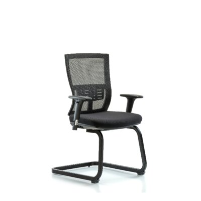 Odin Modern Desk Height Guest Chair Arm Options: Included