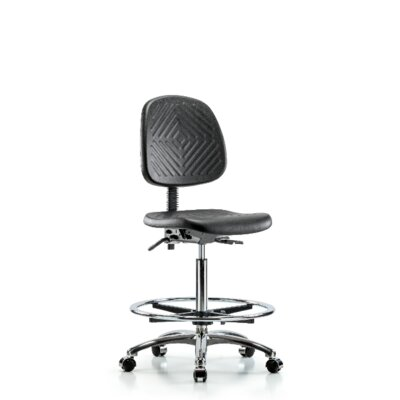 Candace High BenchOffice Chair Casters/Glides: Casters, Tilt Function: Not Included