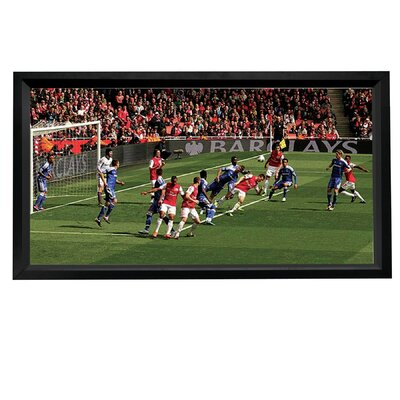"HDTV Format White 110"" Fixed Frame Projection Screen"