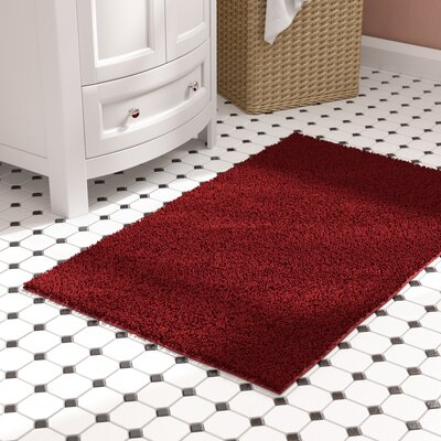 "Roanoke Bath Rug Size: Runner 22"" x 60"", Color: Chili Pepper Red"