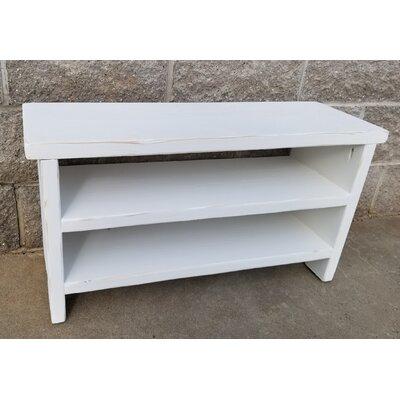 """Wood Storage Bench Size: 17"""" H x 32"""" W x 10"""" D"""