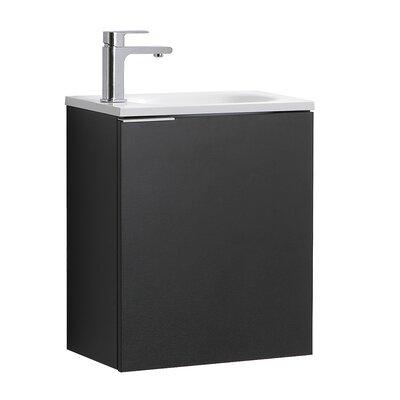 "Senza Valencia 20"" Single Bathroom Vanity Set Base Finish: Black"