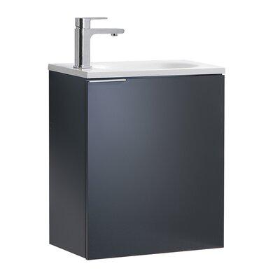 "Senza Valencia 20"" Single Bathroom Vanity Set Base Finish: Dark Slate Gray"
