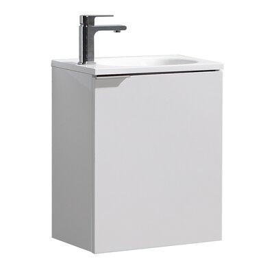 "Senza Valencia 20"" Single Bathroom Vanity Set Base Finish: Glossy White"