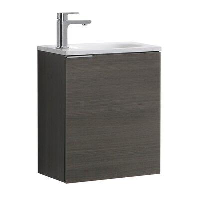 "Senza Valencia 20"" Single Bathroom Vanity Set Base Finish: Gray Oak"