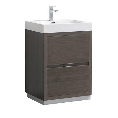 "Senza Valencia 24"" Single Bathroom Vanity Set Base Finish: Gray Oak"