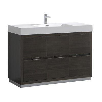 "Senza Valencia 48"" Single Bathroom Vanity Set Base Finish: Gray Oak"