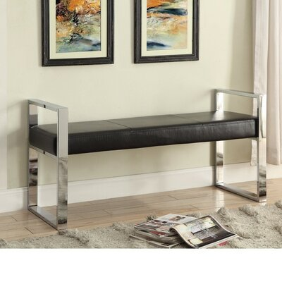 Swinburn Contemporarily Picnic Bench Color: Black