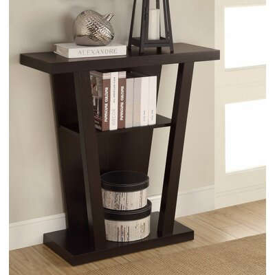 Angled Wooden Console Table