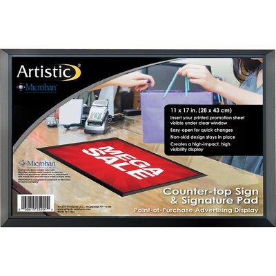 """ADHere Countertop Sign/Signature Pad with Microban Size: 11"""" H x 17"""" W x 0.25"""" D"""